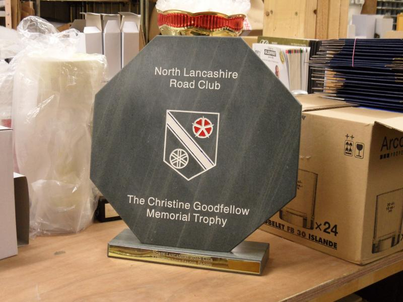 Renovated Sandblasted Slate Trophy - Green Slate Trophies